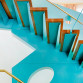 Zielone schody i balustrada